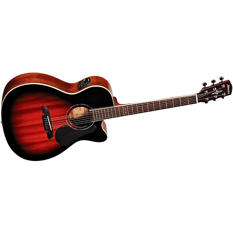 AlvarezArtist Series 66 OM/Folk All Mahogany Solid Top Acoustic-Electric GuitarDeep Gloss Vintage Sunburst