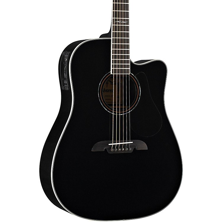 Alvarez Artist Series AD60CE Dreadnought Acoustic-Electric Guitar Black