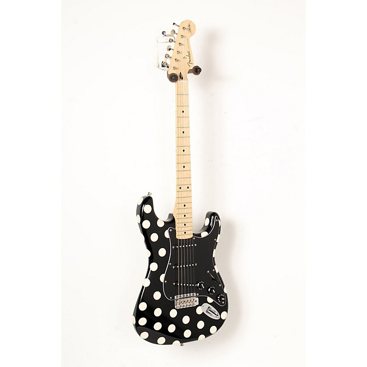 Fender Artist Series Buddy Guy Polka Dot Stratocaster Electric Guitar Black with White Polka Dots 888365848297