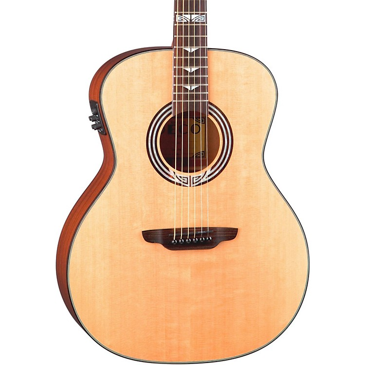 Luna Guitars Artist Series Deco All Solid Wood Grand Auditorium Acoustic-Electric Guitar Natural