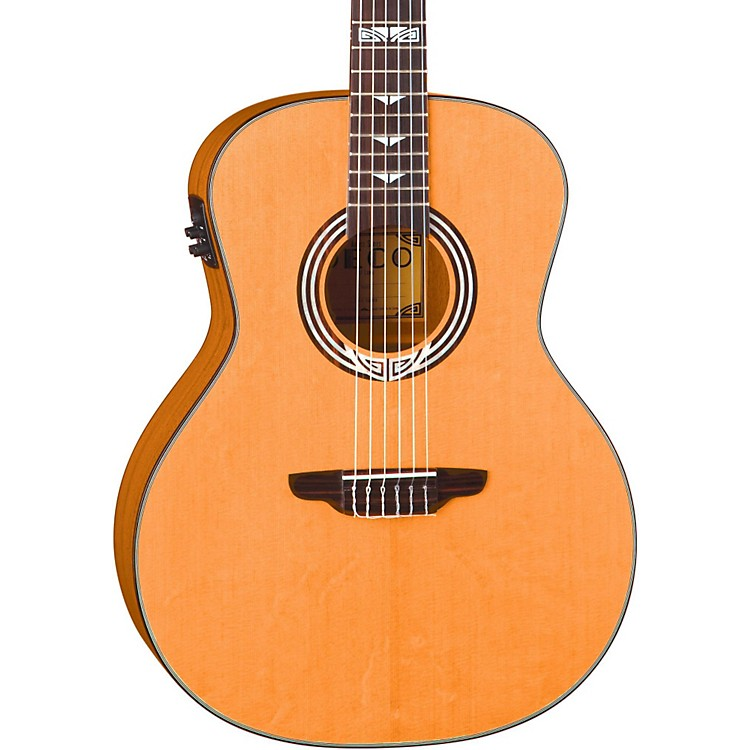Luna Guitars Artist Series Deco All Solid Wood Grand Auditorium Acoustic-Electric Nylon Guitar Natural