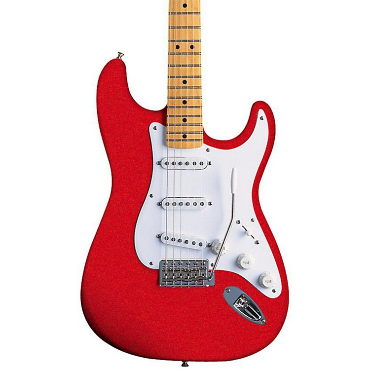 FenderArtist Series Jimmie Vaughan Tex-Mex Stratocaster Electric GuitarCandy Apple Red