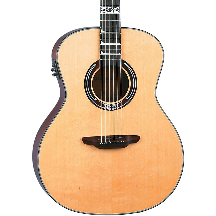 Luna Guitars Artist Series Nouveau All Solid Wood Grand Auditorium Acoustic-Electric Guitar Natural