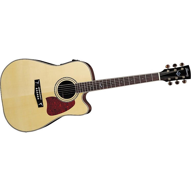 IbanezArtwood AW300ECE Solid Top Dreadnought Cutaway Acoustic-Electric Guitar