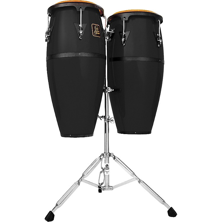 LP Aspire Fiberglass Conga Set Black