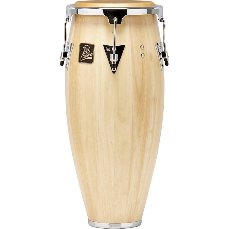 LP Aspire Wood Conga Chrome Hardware 10 in. Quinto Natural Wood
