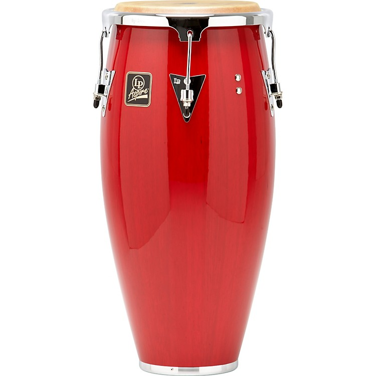 LP Aspire Wood Conga Chrome Hardware 11 inch Red Wood
