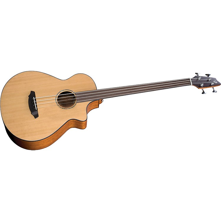 Breedlove Atlas Series Solo BJ350/CM4 Fretless Acoustic-Electric Bass Guitar Natural
