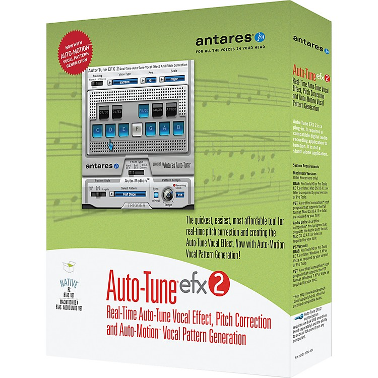Antares Auto Tune EFX2 Vocal Processing Software