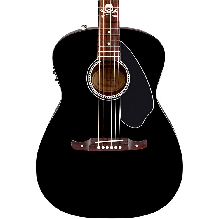 Fender Avril Lavigne Newporter Acoustic-Electric Guitar Black