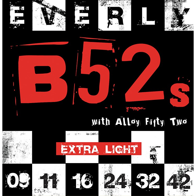 EverlyB-52 Rockers Alloy Extra Light Electric Guitar Strings