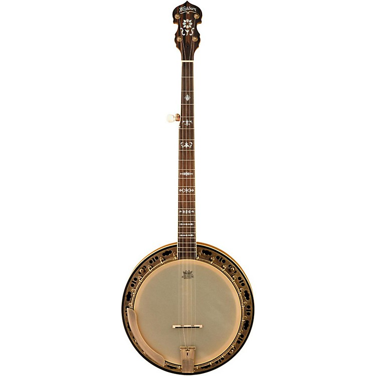 Washburn B120 Natural Distressed 5-String Banjo w/case Natural Distressed