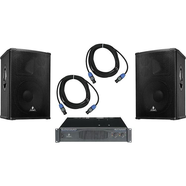 BehringerB1520 / EP4000 Speaker & Amp Package