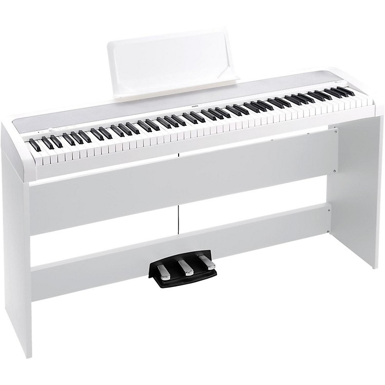 KorgB1SP 88 Keys Digital Piano with Stand and 3-Pedal UnitWhite