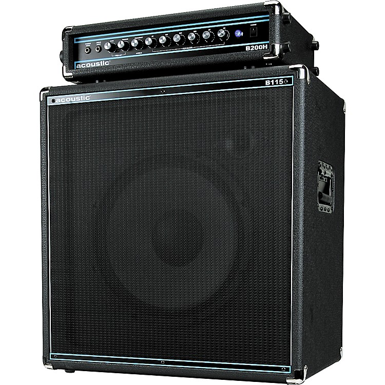 AcousticB200H 200W Bass Head and B115 250W 1x15 Bass Cab Package