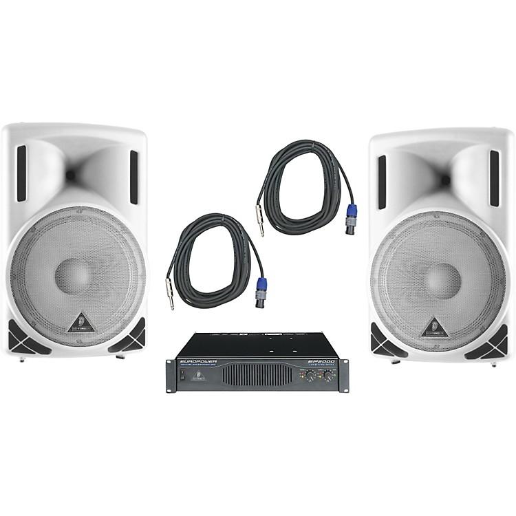 BehringerB215XL White / EP2000 Speaker & Amp Package