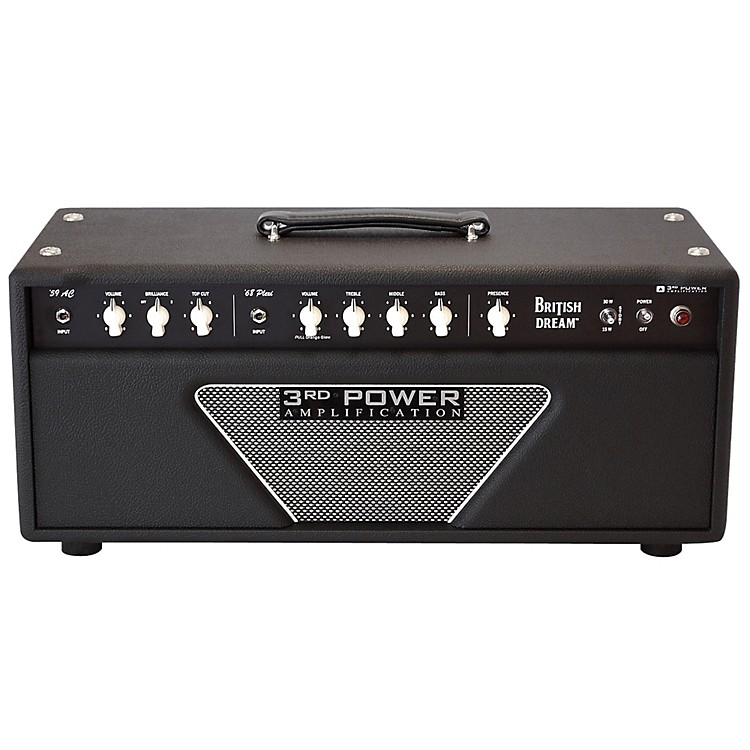 3rd Power Amps BD-AMP British Dream 38/18 Watt 2 Channel Tube Guitar Head Black