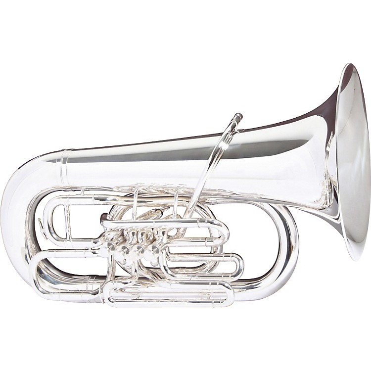Besson BE983 Sovereign Series Compensating EEb Tuba Silver