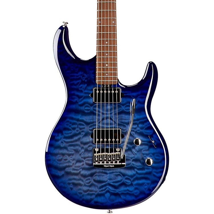 Ernie Ball Music Man BFR Luke III HH Quilt Maple Top Electric Guitar Blueberry Burst