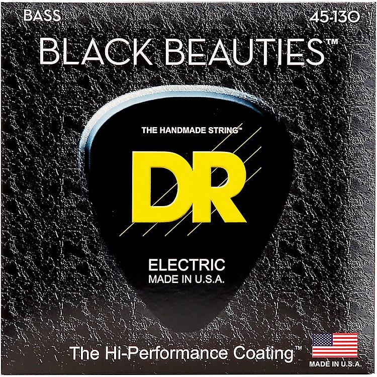 DR StringsBLACK BEAUTIES  Black Coated 5-String Bass Strings Medium (45-130)
