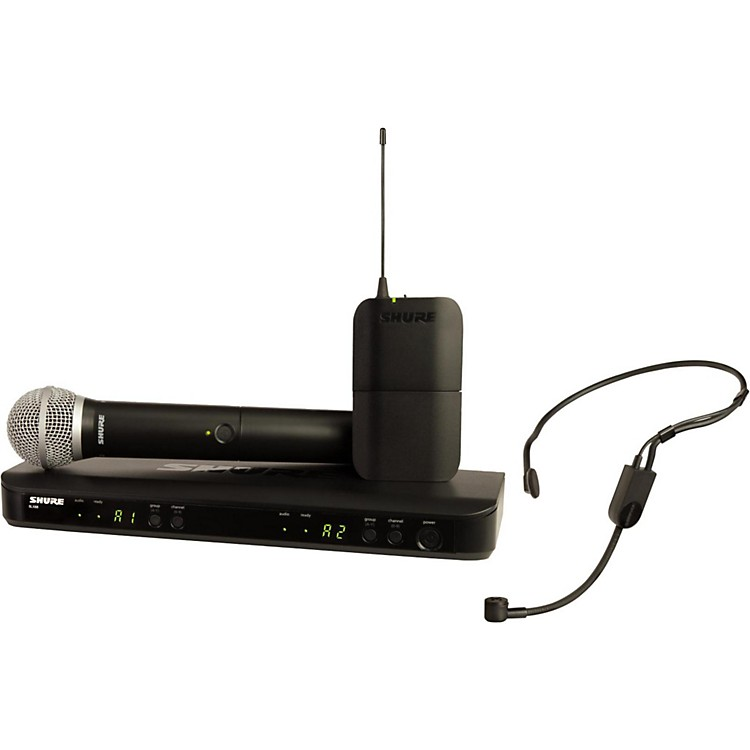 Shure BLX1288 Combo System with PGA31 Headset microphone and PG58 handheld microphone Band H10