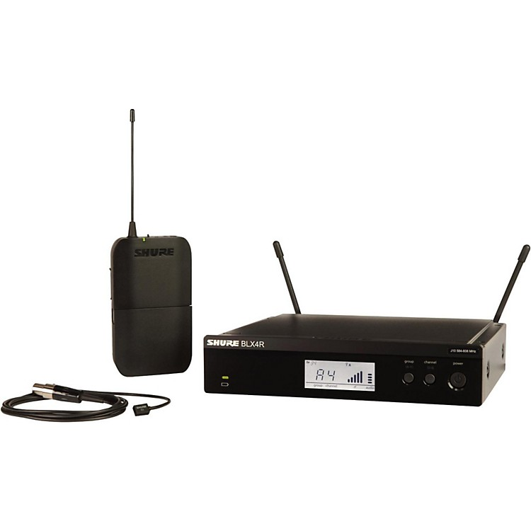 ShureBLX14R/W93 Wireless Lavalier System with WL93 Omnidirectional Condenser Miniature Lavalier MicBand H10