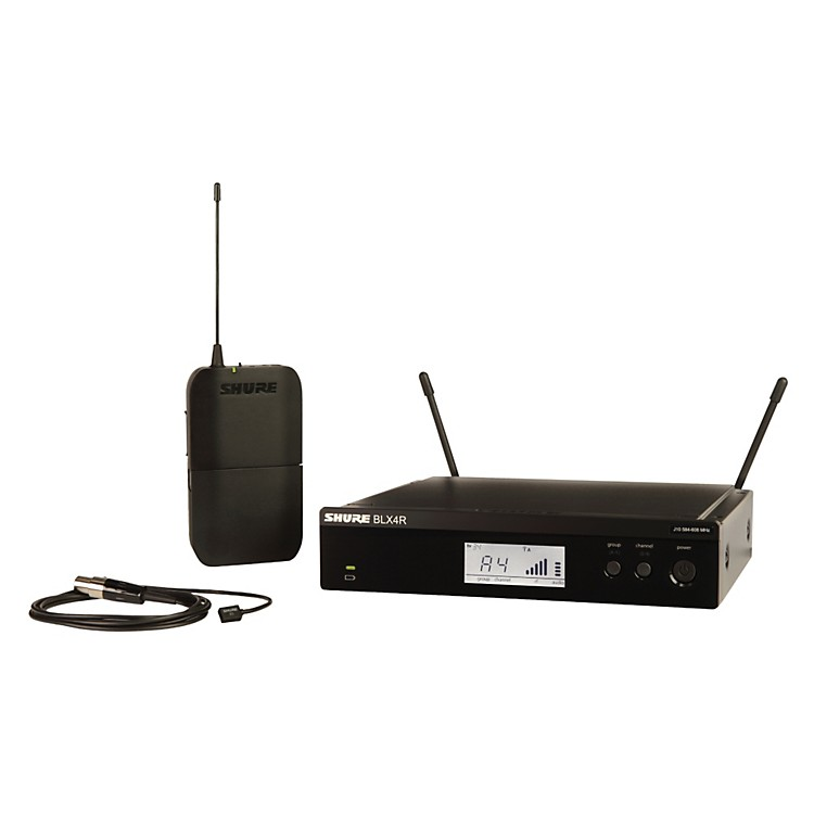 Shure BLX14R/W93 Wireless Lavalier System with WL93 Omnidirectional Condenser Miniature Lavalier Mic Band K12