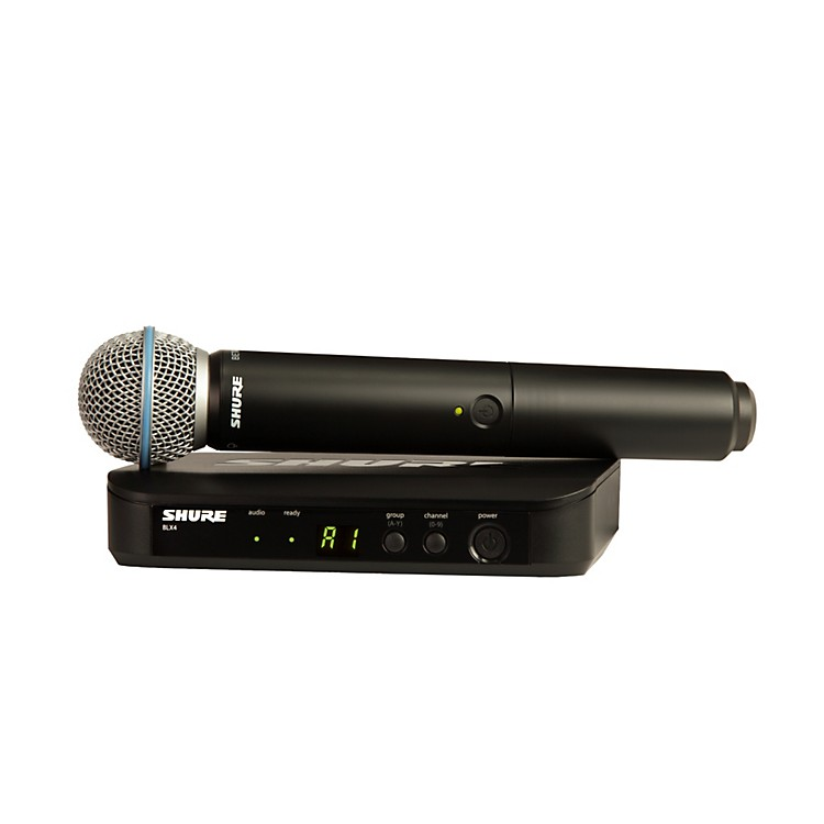 Shure BLX24/B58 Handheld Wireless System with Beta 58A Capsule Band K12
