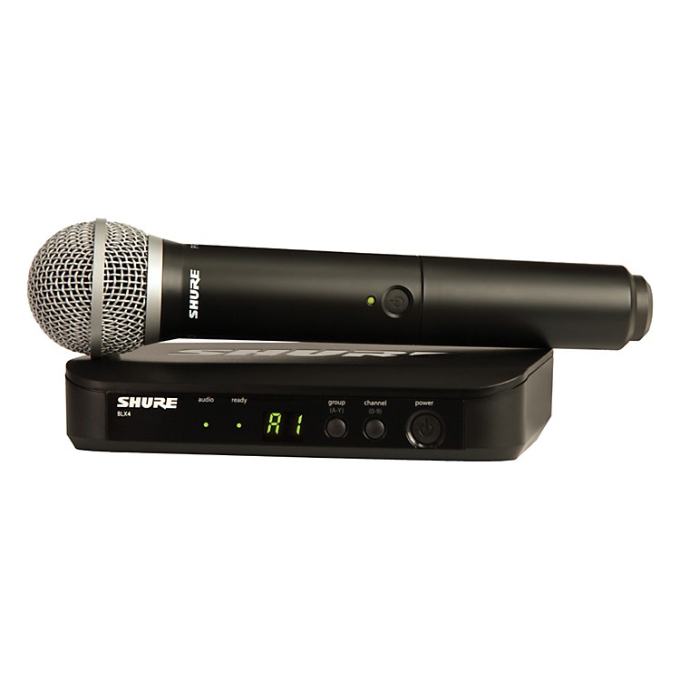 Shure BLX24/PG58 Handheld Wireless System with PG58 Capsule Band H8