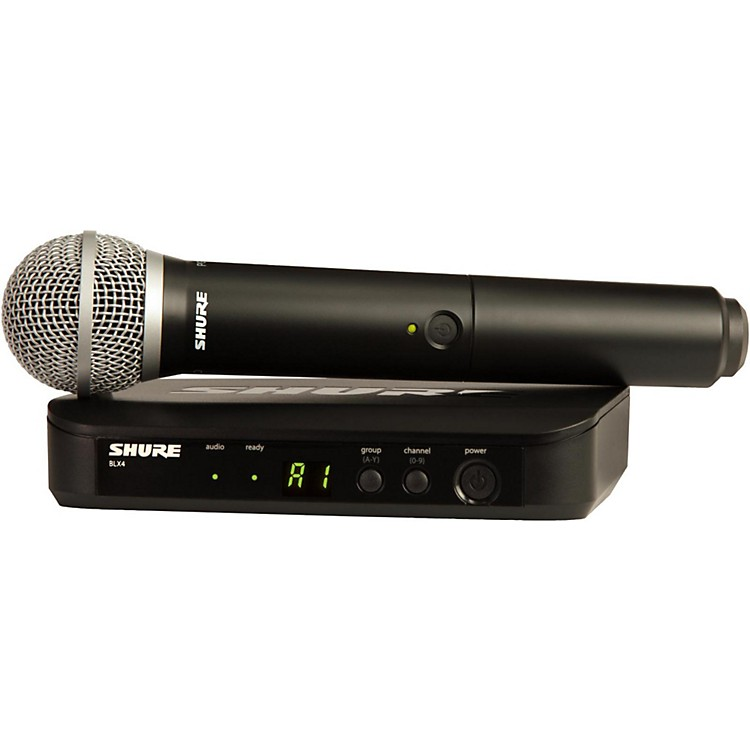 Shure BLX24/PG58 Handheld Wireless System with PG58 Capsule Band K12