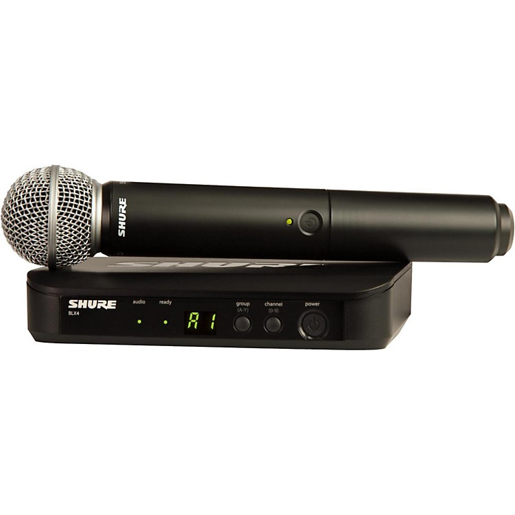 Shure BLX24/SM58 Handheld Wireless System with SM58 Capsule Band H10