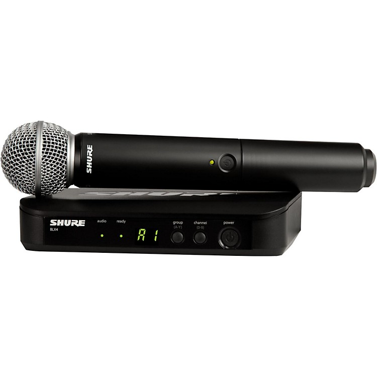 Shure BLX24/SM58 Handheld Wireless System with SM58 Capsule Band H9