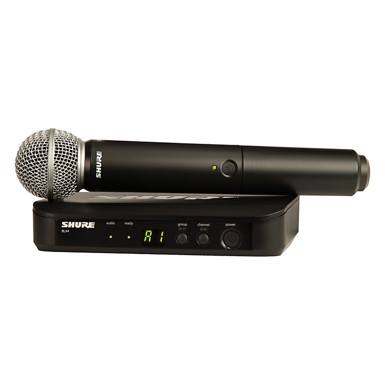 Shure BLX24/SM58 Handheld Wireless System with SM58 Capsule Band J10
