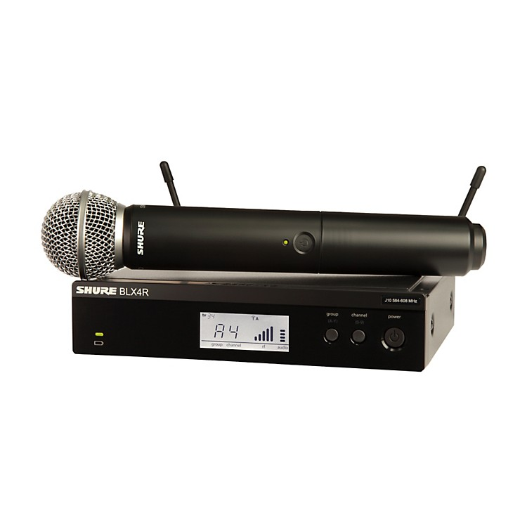 Shure BLX24R/B58 Wireless System with Rackmountable Receiver and Beta 58A Microphone Capsule Band J10
