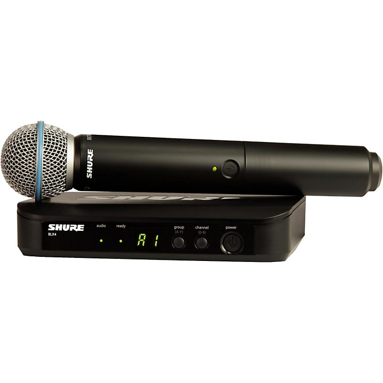 Shure BLX24R/B58 Wireless System with Rackmountable Receiver and Beta 58A Microphone Capsule Band H8
