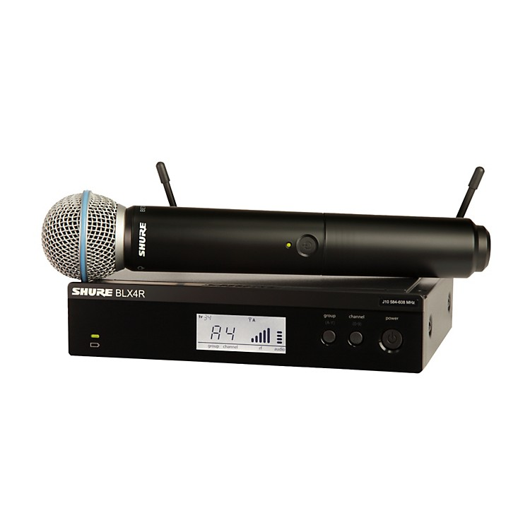 ShureBLX24R/B58 Wireless System with Rackmountable Receiver and Beta 58A Microphone Capsule