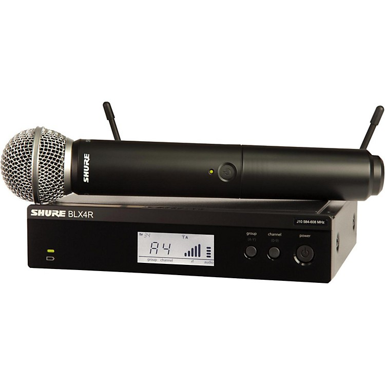 ShureBLX24R/SM58 Wireless System with Rackmountable Receiver and SM58 Microphone CapsuleBand H10