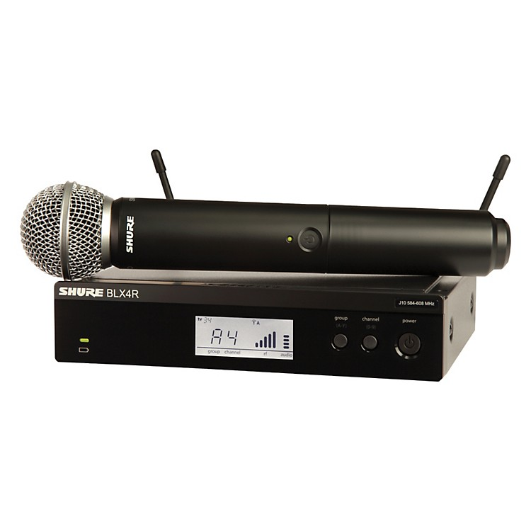 ShureBLX24R/SM58 Wireless System with Rackmountable Receiver and SM58 Microphone CapsuleBand H8