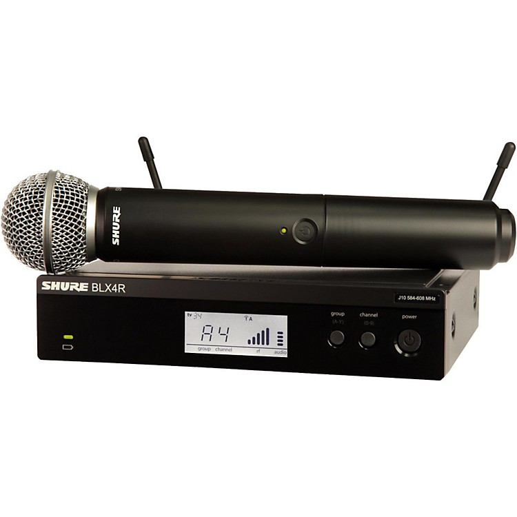 Shure BLX24R/SM58 Wireless System with Rackmountable Receiver and SM58 Microphone Capsule Band J10
