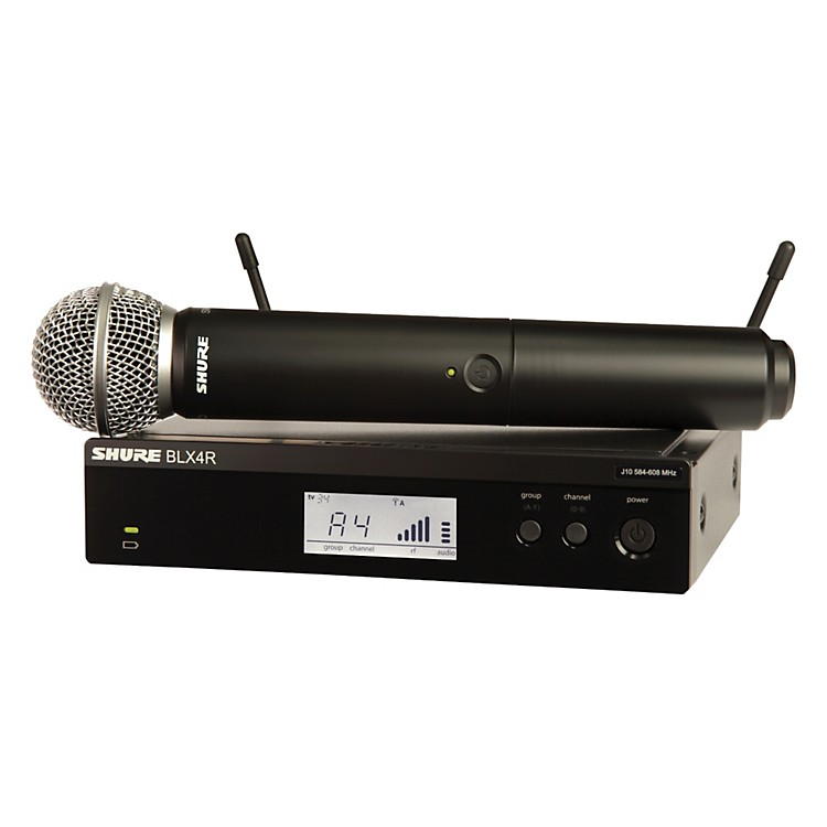 Shure BLX24R/SM58 Wireless System with Rackmountable Receiver and SM58 Microphone Capsule Band K12