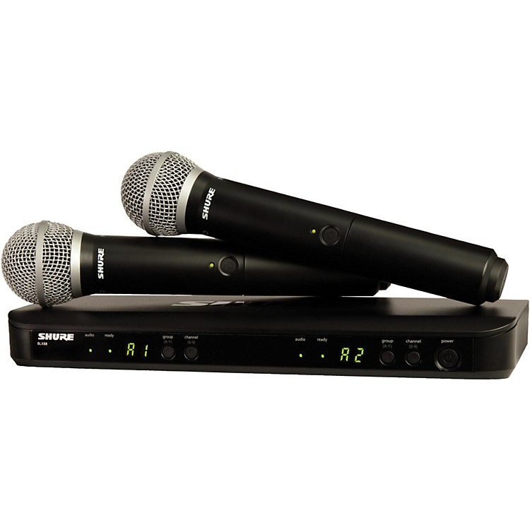 Shure BLX288/PG58 Dual-Channel Wireless System with 2 PG58 Handheld Transmitters Band K12