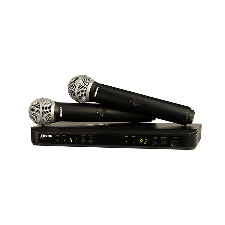Shure BLX288/PG58 Dual-Channel Wireless System with Two PG58 Handheld Transmitters Band H8