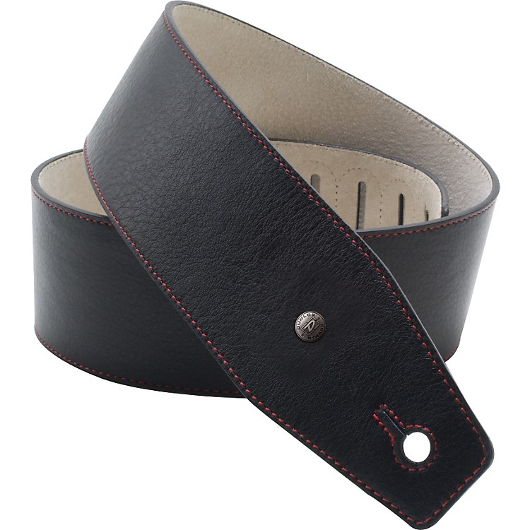 Dunlop BMF Leather Strap - Red Line