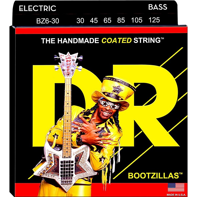 DR StringsBOOTZILLA SIGNATURE 6 STRING BASS MEDIUM .125 LOW B (30-125)