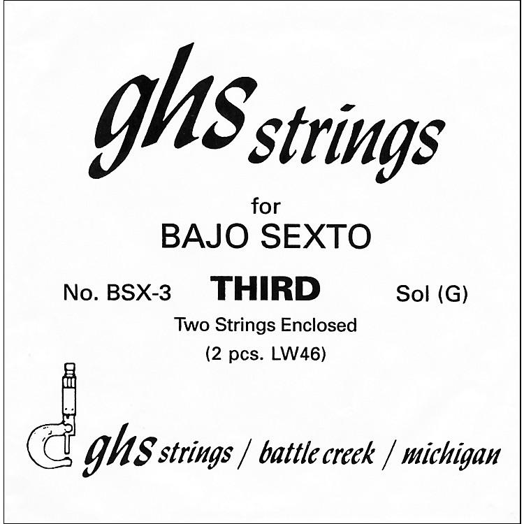GHSBSX3 Bajo Sexto Guitar String Pair