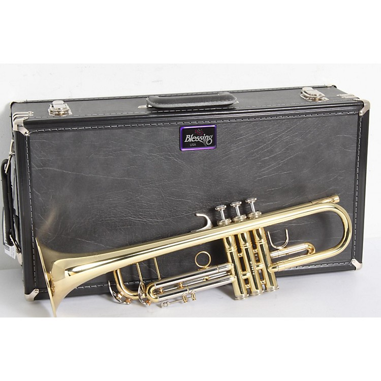 Blessing BTR-1580 Series Professional Bb Trumpet BTR-1580G Silver with Gold Trim 886830221194