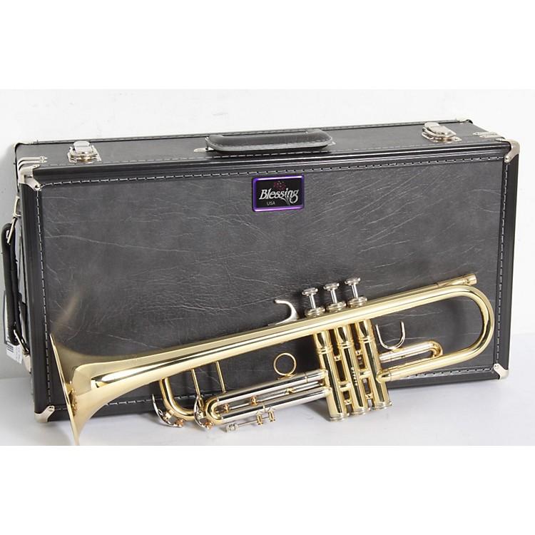 BlessingBTR-1580 Series Professional Bb TrumpetBTR-1580G Silver with Gold Trim886830221194