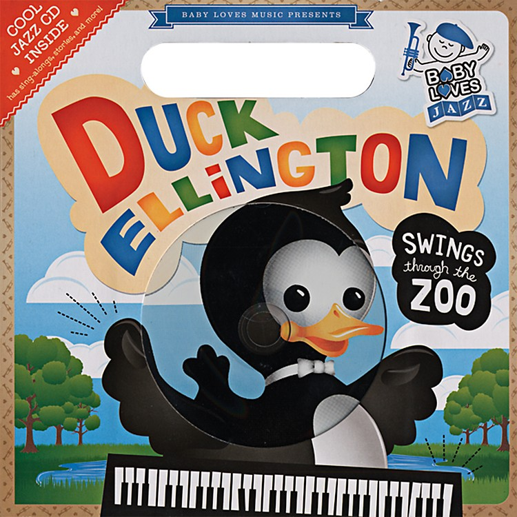 Penguin Books Baby Loves Jazz Duck Ellington Swings Through the Zoo Book & CD