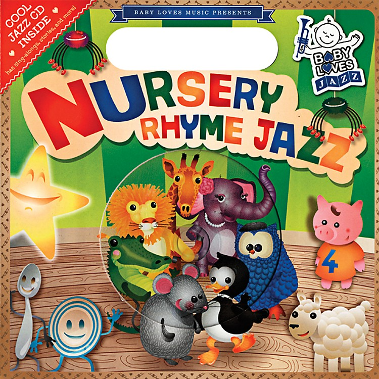 Penguin Books Baby Loves Jazz Nursery Rhyme Jazz Book & CD