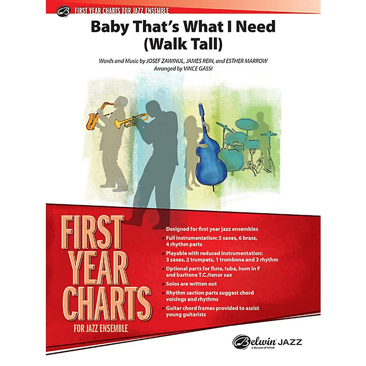 AlfredBaby That's What I Need (Walk Tall) Jazz Band - Grade 1 Set